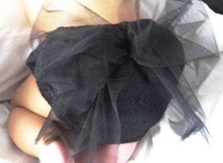culotte lazo negro