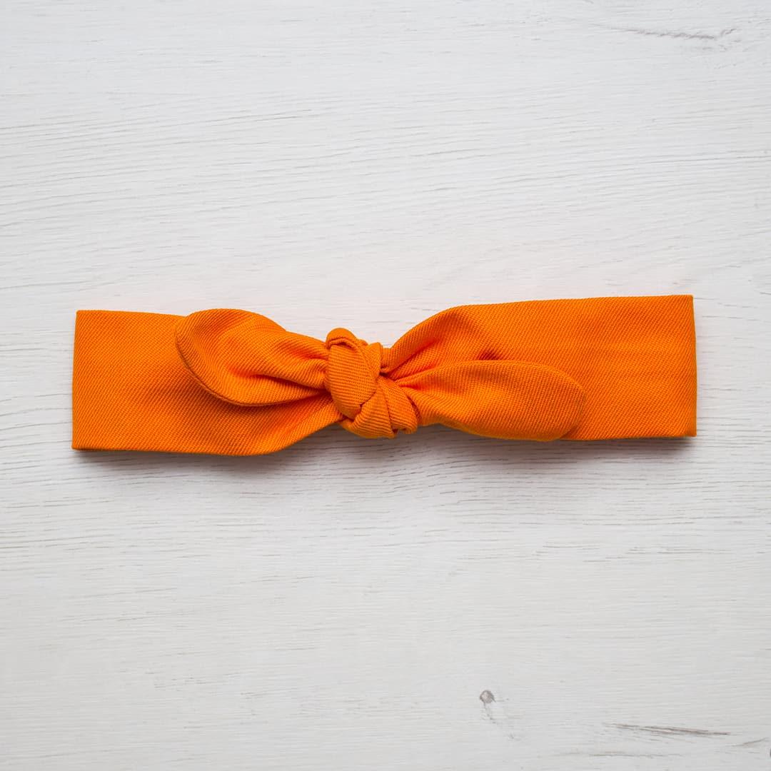 turbante lazo naranja