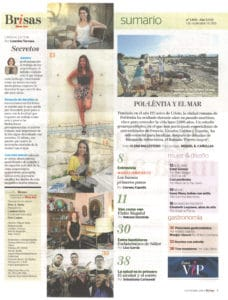 Reportaje en Brisas Magazine: