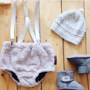 culotte gris lana bebé